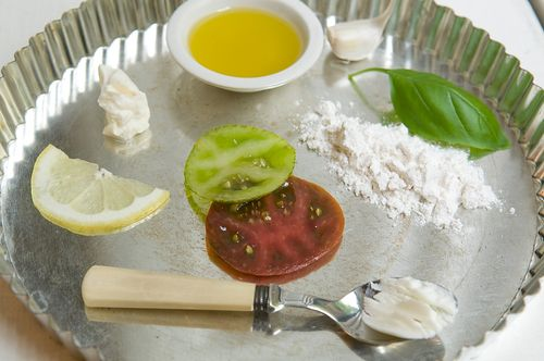 Heirloom Tomato and Lemon Mascarpone Tart