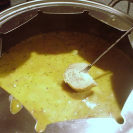 Sharp Cheddar and Beer Fondue