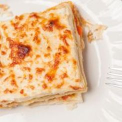 White Lasagna with Toppings