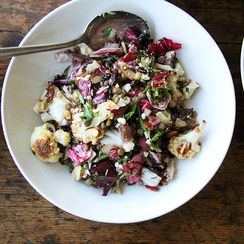 Lentil Salad with Roasted Radicchio & Cauliflower