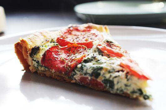 Ricotta-tomato pie