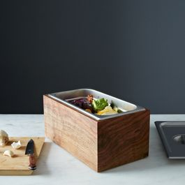 Noaway Countertop Walnut Compost Bin