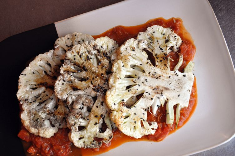 Chef Ken's Indian Cauliflower Steaks with Tomato Sauce