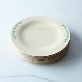 Hand-Printed Compostable Bamboo Plates