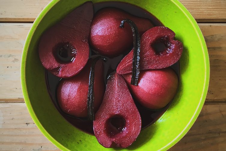 Primitivo-Poached Pears