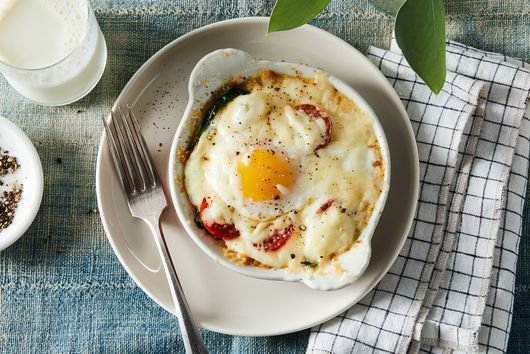 These Lusciously Creamy, Cheesy Baked Eggs Are the Breakfast of Champions