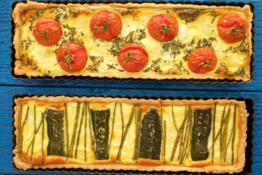 Two Savory Tarts: Zucchini Ricotta & Tomato Mozzarella
