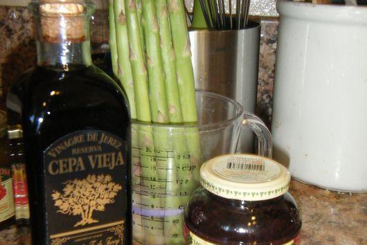 Purple Reign;  Asparagus with Violet Mustard Vinaigrette