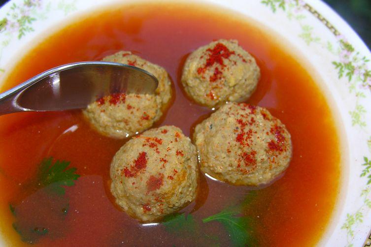 Liver dumpling meatballs in a heavenly broth Recipe on Food52