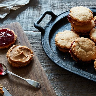 The tropical version of a PB & J sandwich - Except, it's a cookie