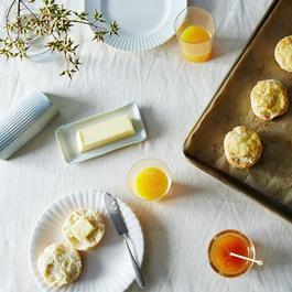 Embossed Porcelain Butter Dish