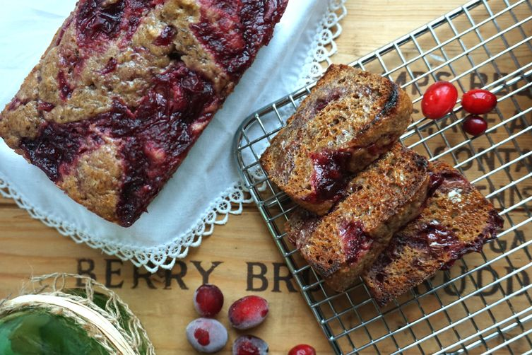 Cranberry Pomegranate Sauce Sticky Bread