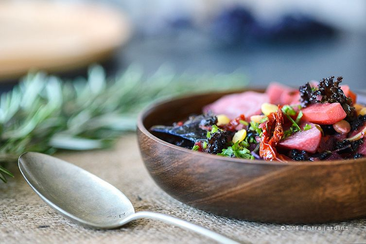 Purple red root winter bowl
