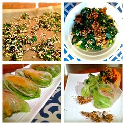 Sesame, Quinoa & all-the-Greens Power Wrap