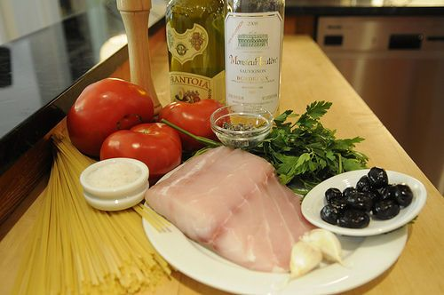 The (Not Barefoot) Contessa's Fish Pasta