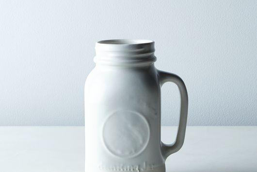 Porcelain Ball Jar Mug with Handle