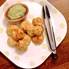 Chicken Meatballs with Spicy Avocado Yogurt