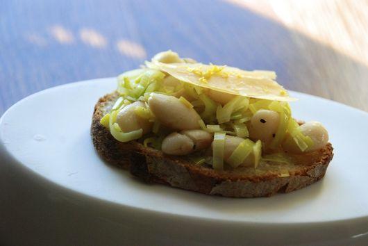 White Beans and Leeks on Toast