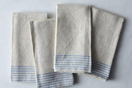 Agrarian Striped Linen Napkins (Set of 4)