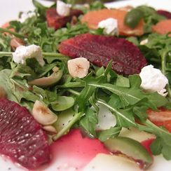Blood Orange, Olive, and Arugula Salad