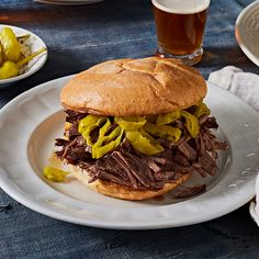 Poker-Break Pulled Beef Sandwiches