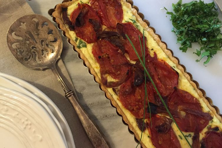 Roasted Tomato And Herbed Ricotta Tart Recipe on Food52