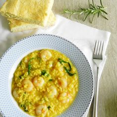 Risotto Milanese with shrimps