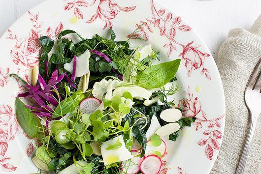 Kale Fennel Basil Salad with Tangerine Champagne Vinaigrette