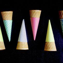 Origami Ice Cream Cone Sleeves