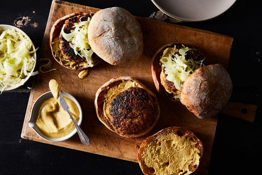 Porchetta & White Bean Burgers