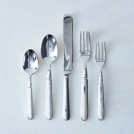Silver-Plated Florentine Flatware (5 Piece Place-Setting)