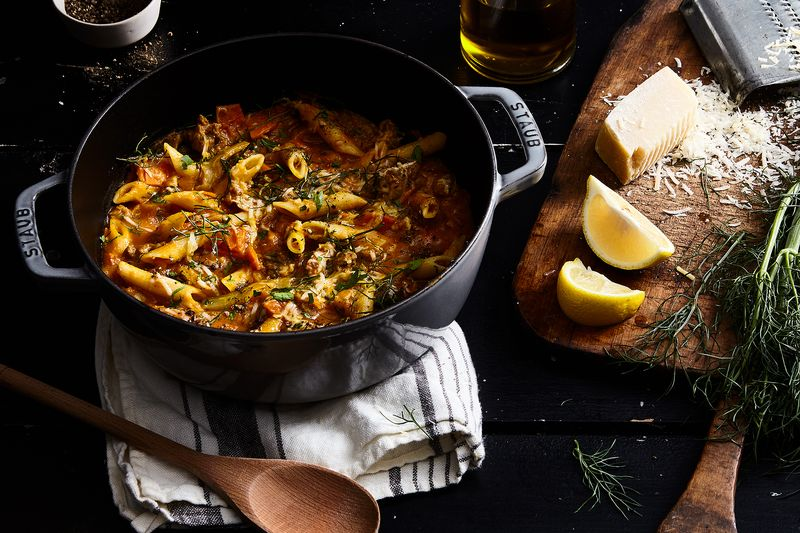 One-Pot Penne With Sausage, Pumpkin, and Fennel
