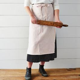 Summer Linen Striped Apron