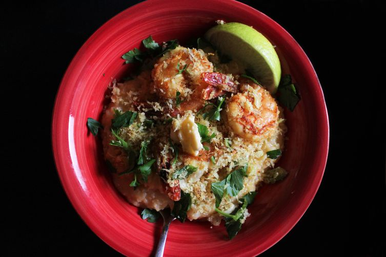 Goa-style shrimp and grits
