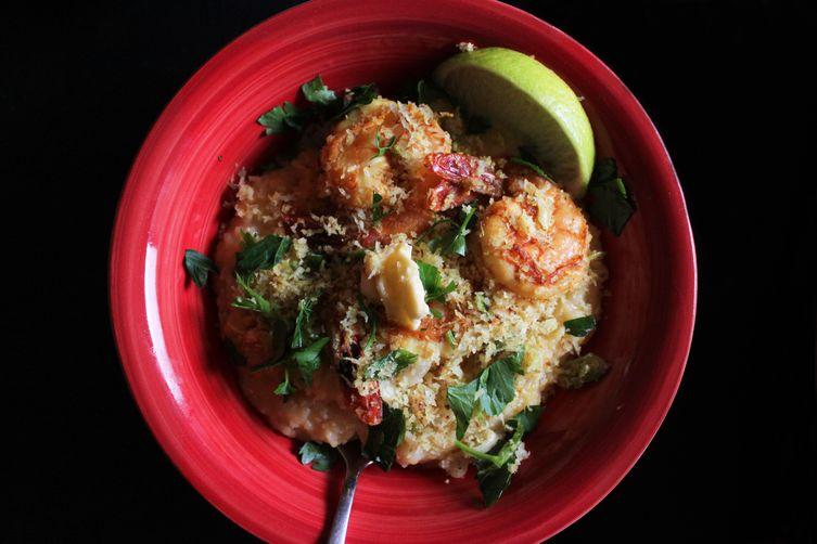 Goa-style shrimp and grits