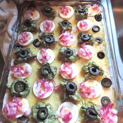 Peruvian Causa (Potato-Tuna Layered Dish) w/ Russian Salad