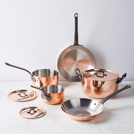 de Buyer Induction Copper 8-Piece Cookware Set