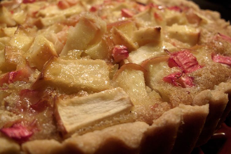 Apple Rhubarb Brown Butter Tart