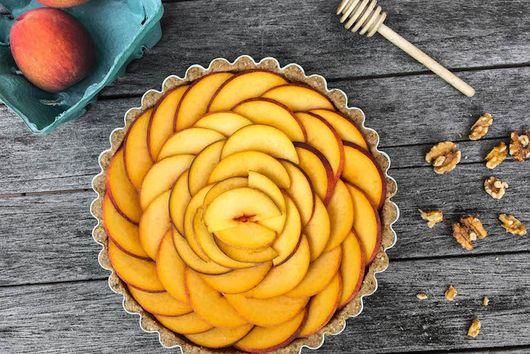 No-Bake Fresh Peach Tart