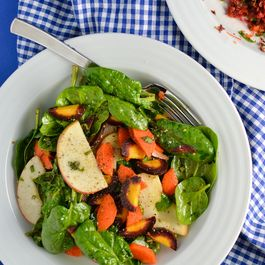 Carrot, Apple and Spinach Salad