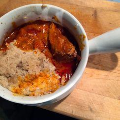 Chicken Paprikash over Mashed Garlic Caulifower