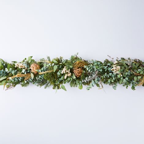 Winter Artichoke, Fir & Eucalyptus Garland