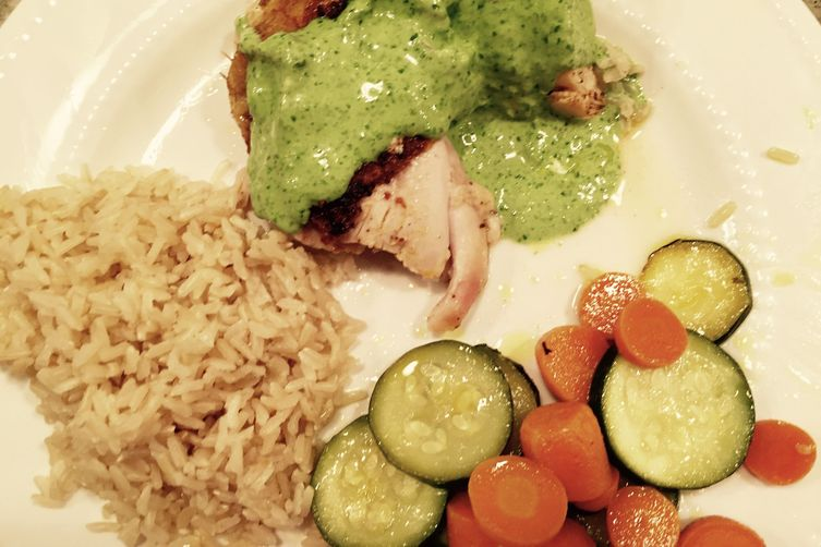 Herb Roasted Chicken with Sauce Verte