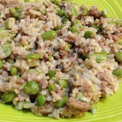 Ground Turkey, Edamame & Brown Rice One-Skillet Wonder
