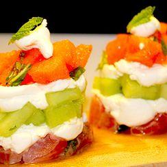 Melon & Tuna Napoleon