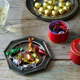 Parisian Holiday Tin Candy Box