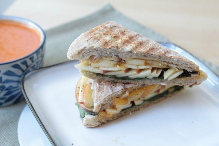 Toasted Whole Grain Apple Cheddar Panini Recipes — Dishmaps