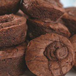 Sugar Bowl Bakery's Organic Chocolate Molten Lava Brownie Bites