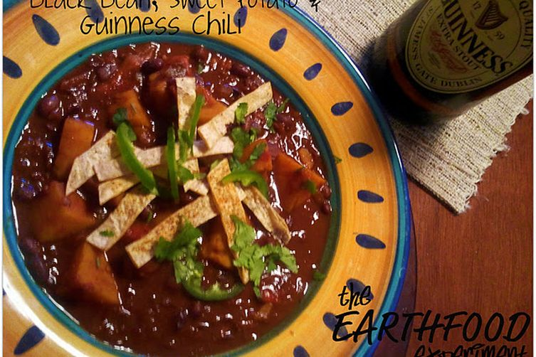 Black Bean, Sweet Potato, and Guinness Chili