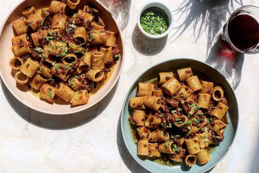 Black lentil bolognese
